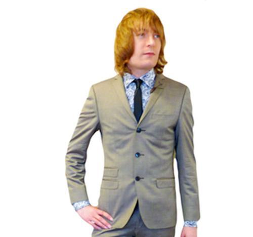BEN SHERMAN Mod 3 Button Tonic Suit Jacket G