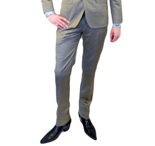 BEN SHERMAN Mod Retro Mod Gold Tonic Suit Trouser