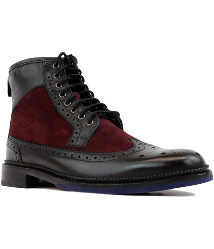 goodwin smith pendleton retro brogue boots black