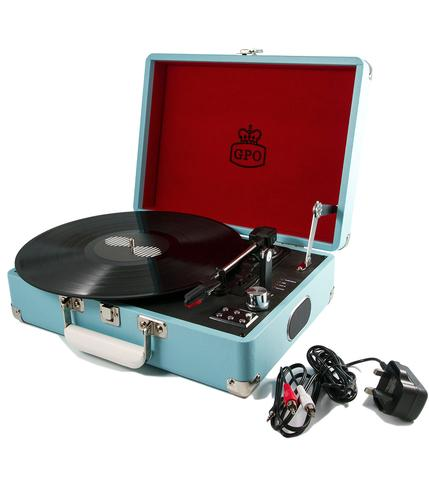 GPO RETRO RECORD PLAYER ATTACHE CASE BLUE