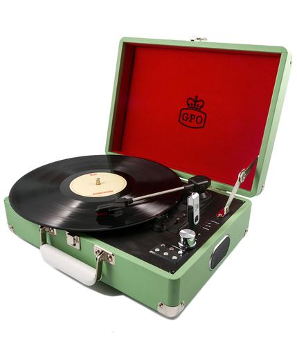 GPO RETRO RECORD PLAYER ATTACHE CASE GREEN