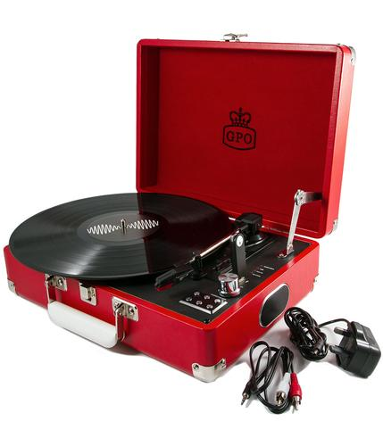 GPO RETRO RECORD PLAYER ATTACHE CASE RED