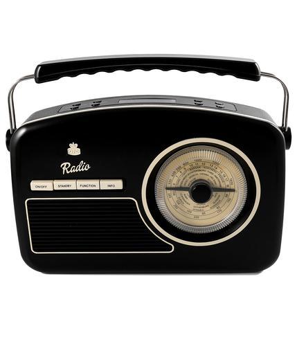 GPO RETRO RADIO VINTAGE DAB RYDELL RADIO BLACK