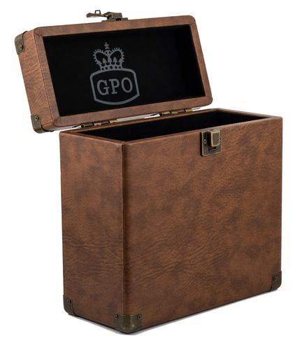 GPO RETRO RECORD BOX 7 INCH VINYL BOX BROWN