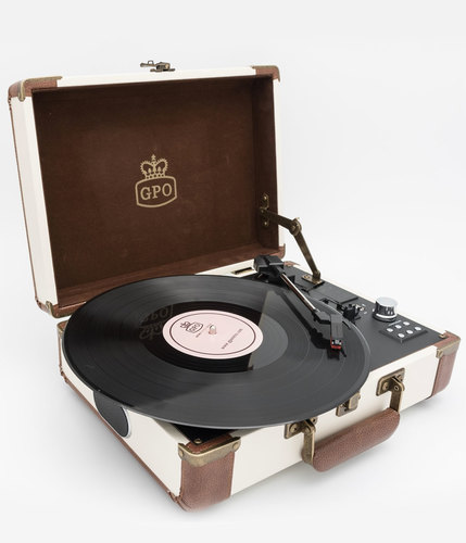 GPO RETRO RECORD PLAYER AMBASSADOR CREAM