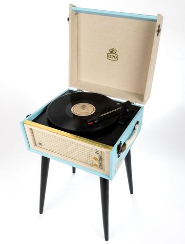 GPO RETRO STANDING RECORD PLAYER BERMUDA BLUE