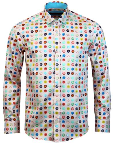 guide london retro mod pop art bottle top shirt