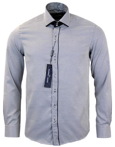 GUIDE LONDON RETRO MOD DOGTOOTH BIG COLLAR SHIRT