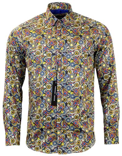 GUIDE LONDON PSYCHEDELIC FLORAL SIXTIES MOD SHIRT
