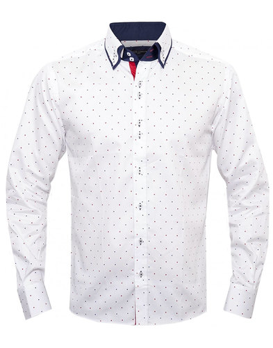 guide london mod mini polkadot double collar shirt