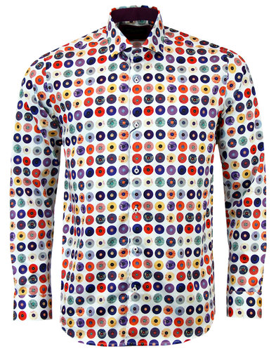 guide london retro 1960s mod record print shirt
