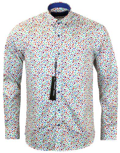 guide london retro 60s mod psychedelic stars shirt