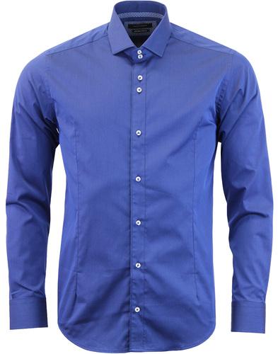 guide london spread collar shirt navy