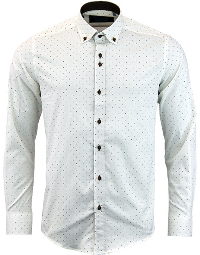 guide london micro polka dot shirt white