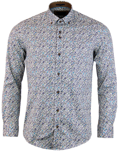 guide london micro floral shirt blue