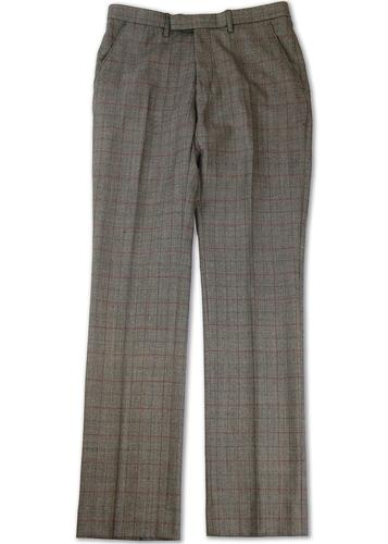 GIBSON LONDON RETRO MOD CHECK TROUSERS