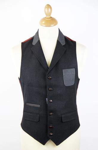 GUIDE LONDON RETRO MOD WAISTCOAT TWO TONE
