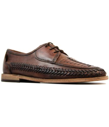 Anfa H by HUDSON Mod Woven Leather Summer Shoes