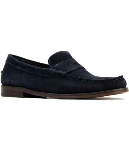 h by hudson augusta suede retro mod penny loafers