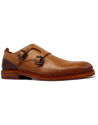 h by hudson bromsden monk buckle shoes tan