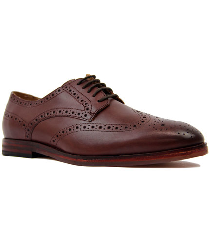 h by hudson talbot retro 1960s mod brogues brown