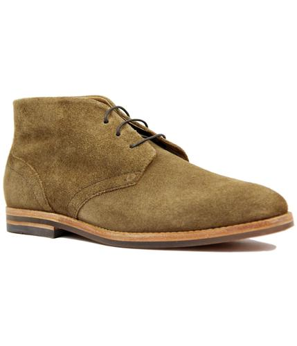 H by HUDSON RETRO MOD SUEDE DESERT BOOTS TOBACCO