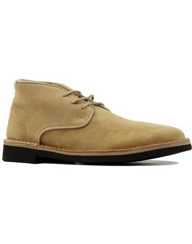 Margrey HUDSON Retro Mod Suede Desert Boots (Sand)