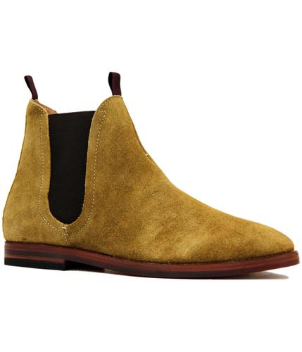 H by HUDSON TAMPER MOD SUEDE CHELSEA BOOTS SAND
