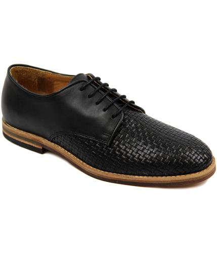 H BY HUDSON HADSTONE WEAVE SHOES BLACK