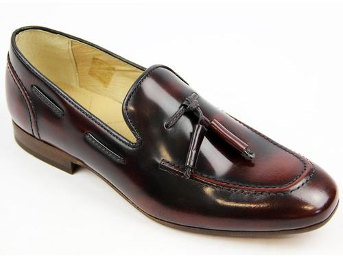 H BY HUDSON RETRO MOD PIERRE LOAFERS BORDO