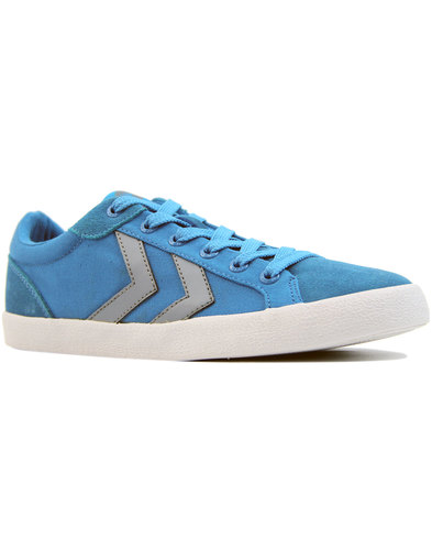 hummel deuce court summer womens trainers blue