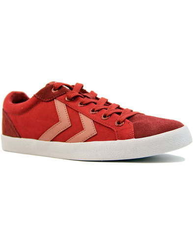 hummel deuce court summer retro trainers spice