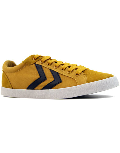 hummel deuce court summer retro trainers yellow