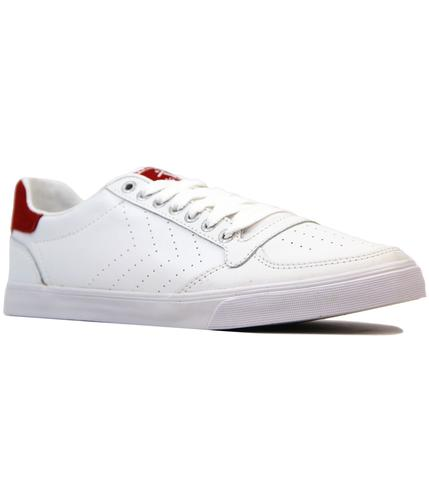 hummel slimmer stadil ace retro 1970s trainers red