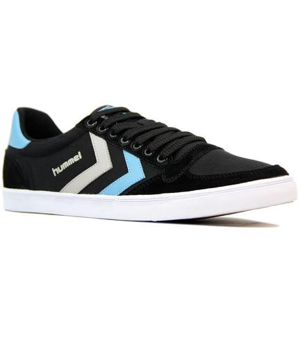 hummel slimmer stadil duo retro 70s trainers black