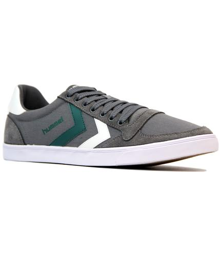 hummel slimmer stadil duo retro 70s trainers grey