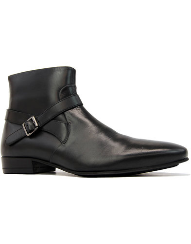 Kynaston H By HUDSON Retro Biker Chelsea Boots