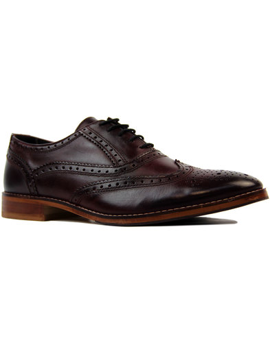 ikon benson retro 1960s mod oxford brogues bordo