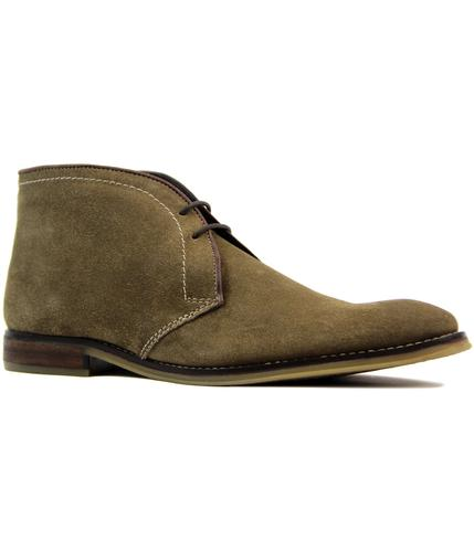ikon newton retro 60s mod suede desert boots taupe