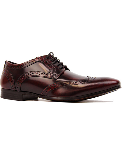 Ikon nolan wingtip derby brogue Bordeaux