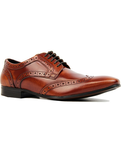 Ikon Nolan wingtip brogues tan