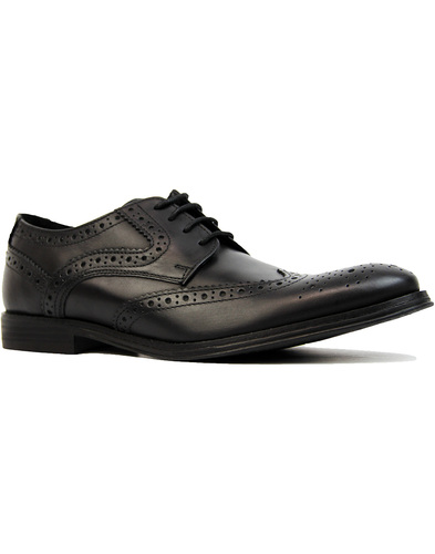 ikon parker wingtip brogue shoes black