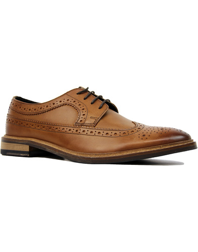 ikon russell derby brogues tan