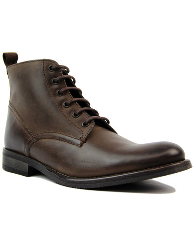 Stiller IKON Retro Distressed Leather Worker Boots