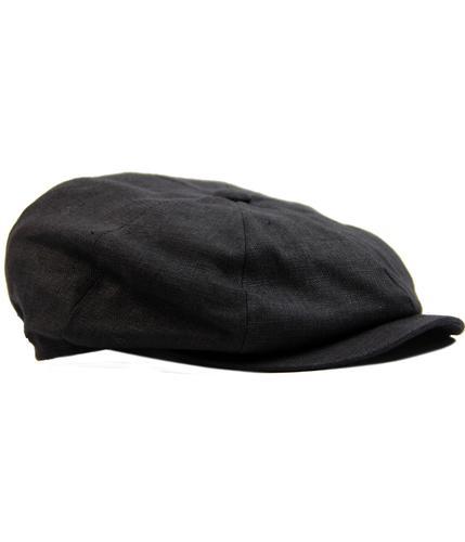 failsworth alfie retro mod linen gatsby hat black