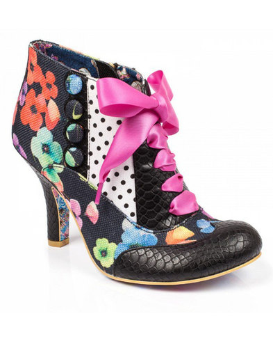 Irregular choice blair elfglow black white heels