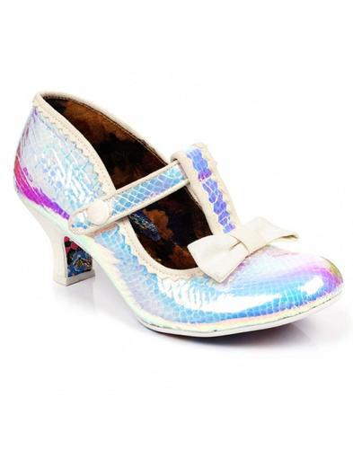 Lazy River IRREGULAR CHOICE Iridescent T-Bar Heels