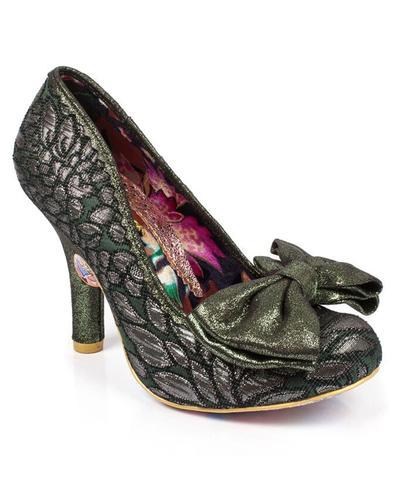 Mal E Bow IRREGULAR CHOICE Floral Glitter Heels G