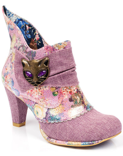 Miaow IRREGULAR CHOICE Retro Cat Face Shoe Boots