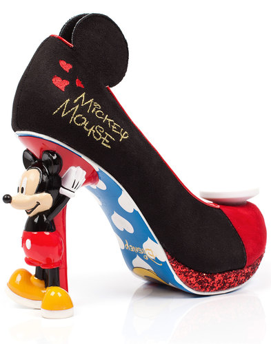IRREGULAR CHOICE Disney Mickey Mouse Heel Shoes